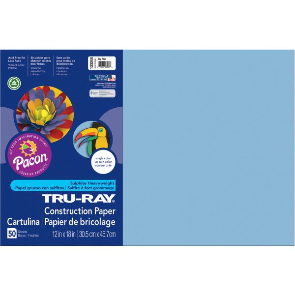 Tru-Ray Blue Construction Paper