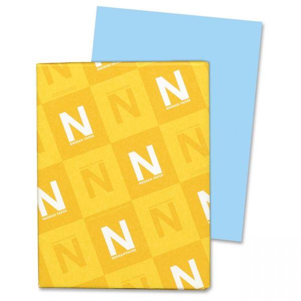 Neenah Paper Vellum Bristol Blue Colored Cover Stock