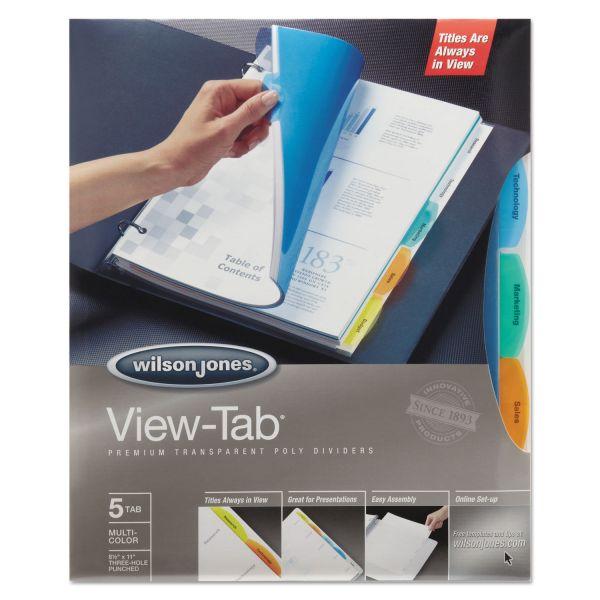 Wilson Jones View-Tab Transparent Tab Dividers