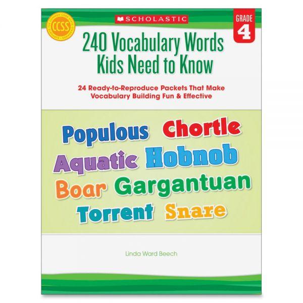 Scholastic Grade-4 240 Vocabulary Words Book Education Printed Book