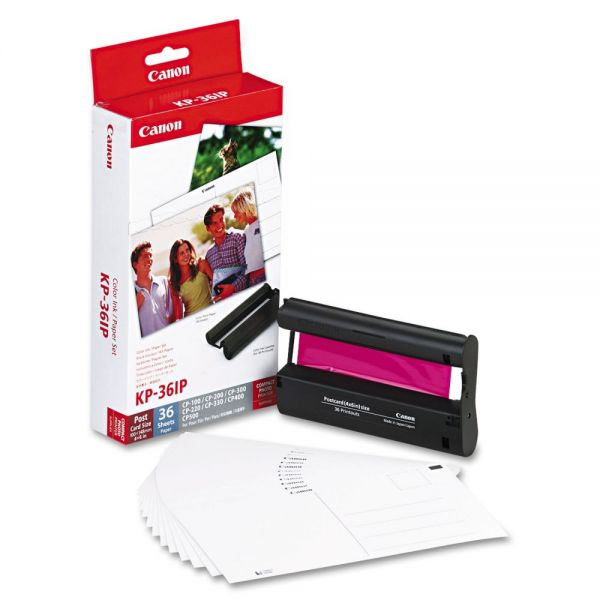 Canon KP-36IP Ink Cartridge & Glossy Photo Paper Kit
