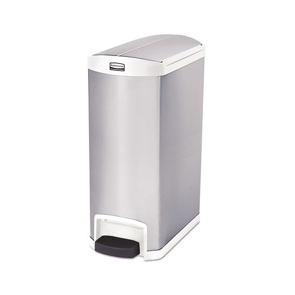 Rubbermaid Slim Jim Stainless Steel Step-On 13 Gallon Trash Can