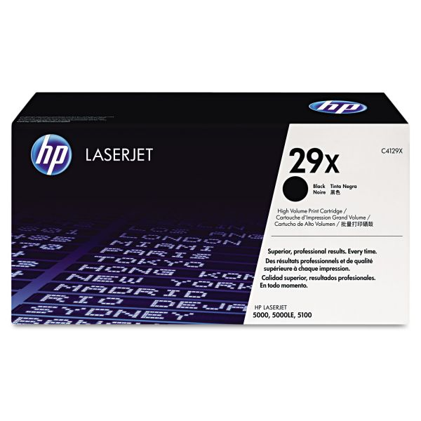 HP HP 29X, (C4129X) High Yield Black Original LaserJet Toner Cartridge