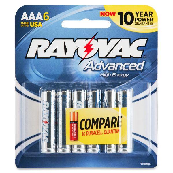 Rayovac Alkaline High Energy AAA Batteries