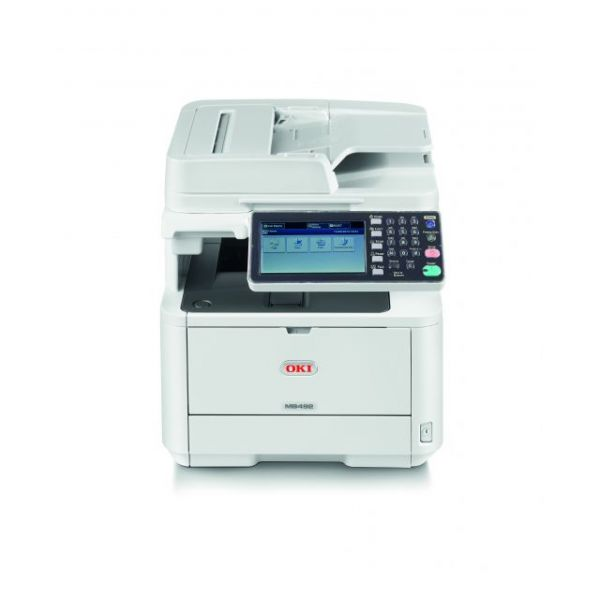 Oki MB492 LED Multifunction Printer - Monochrome - Plain Paper Print - Desktop