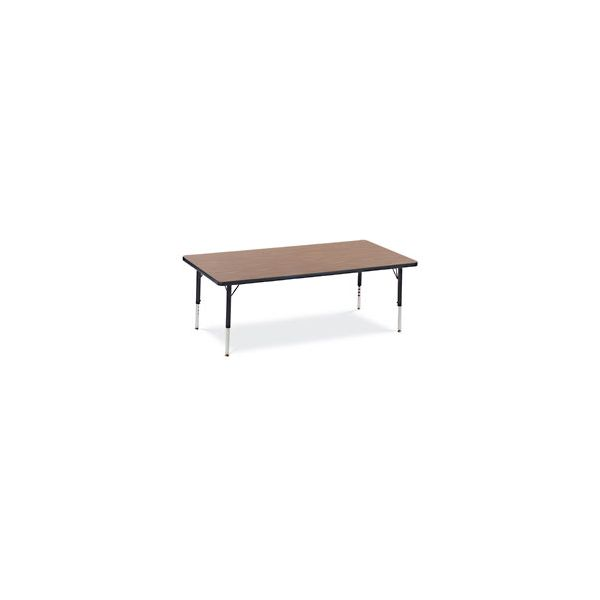 Primary Collection Height Adjustable Rectangular Activity Table with Purple Iris Banding