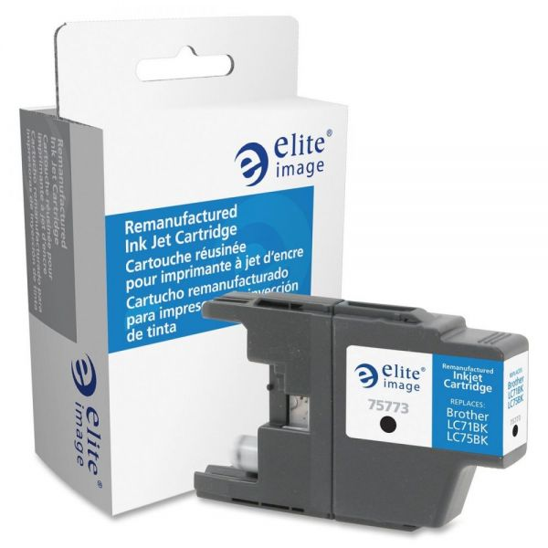 Elite Image Remanufactured Brother LC71BK, LC75BK Ink Cartridge