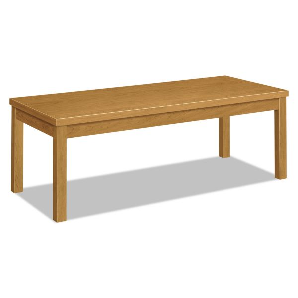 HON Laminate Occasional Table, Rectangular, 48w x 20d x 16h, Harvest