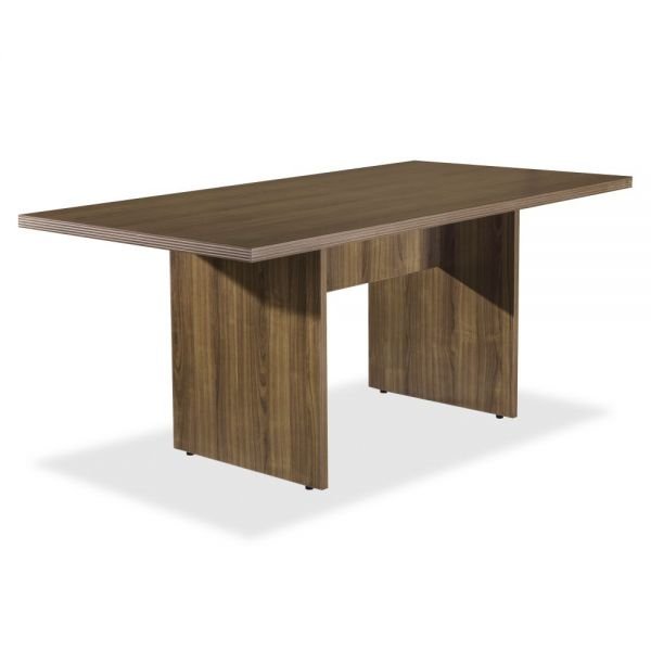 Lorell Chateau Series Walnut 6' Rectangular Table