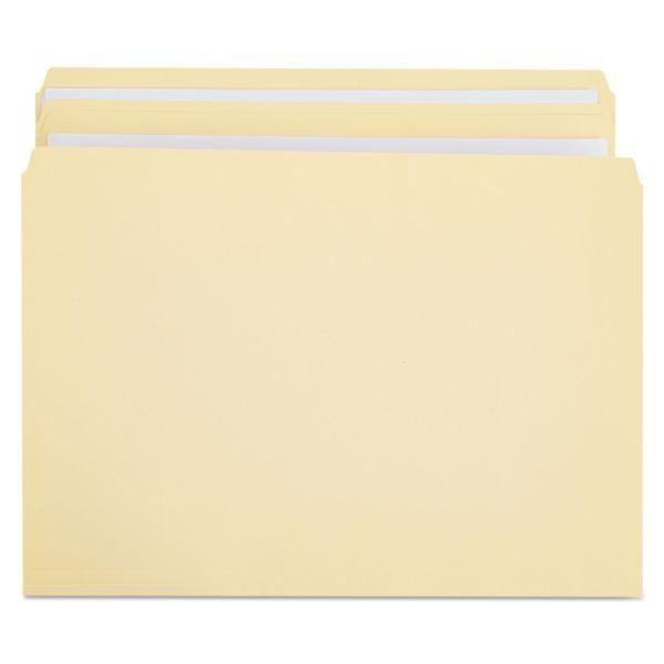 Universal File Folders, Straight Cut, Two-Ply Top Tab, Legal, Manila, 100/Box