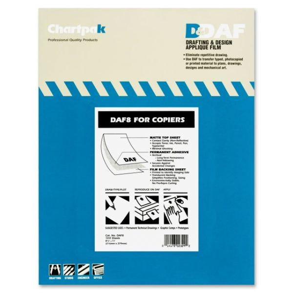Chartpak 1.5 mil Applique Drafting Film