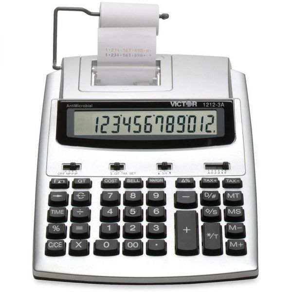 Victor 1212-3A Commercial Printing Calculator with Built-In AntiMicrobial Protection