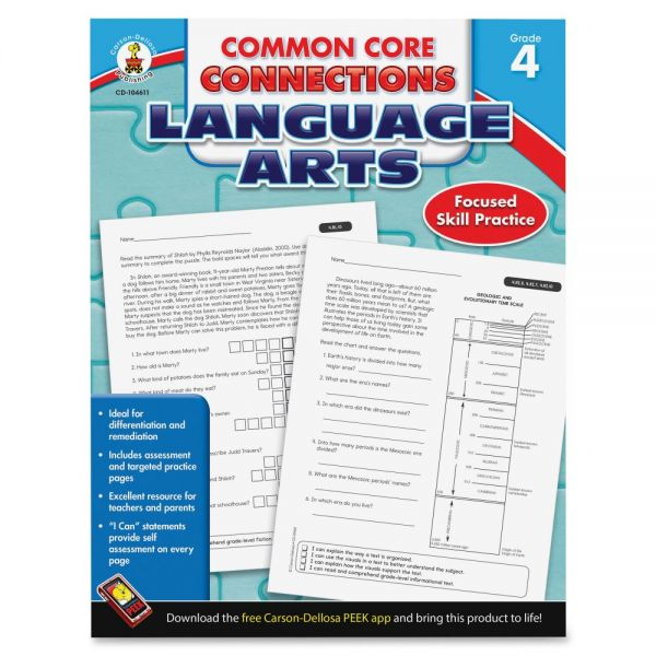 Carson-Dellosa CCC Grade 4 Language Arts Workbook Learning Printed Book for Art - English