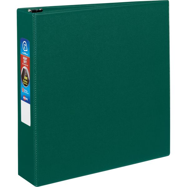 "Avery Heavy-Duty 3-Ring Binder with One Touch EZD Rings, 2"" Capacity, Green"