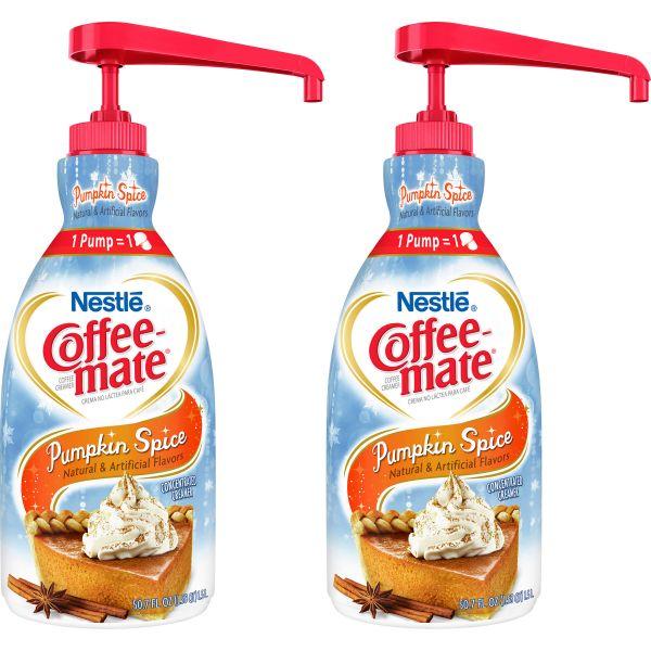 Nestlé® Coffee-mate® Coffee Creamer Pumpkin Spice - 1.5L liquid pump bottle