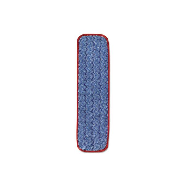 "Rubbermaid Commercial Microfiber Wet Mopping Pad, 18 1/2"" x 5 1/2"" x 1/2"", Red, 12/Carton"