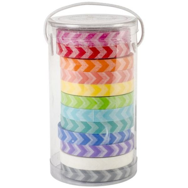 Kraft In Color Washi Tape 8mm, 12yds, 12/Pkg