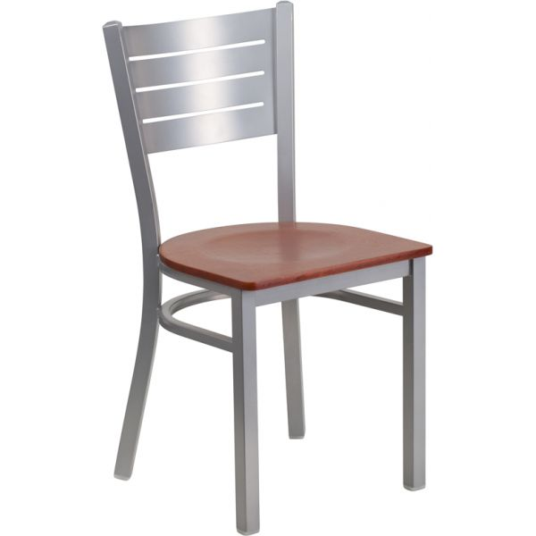 Flash Furniture Slat Back Metal Restaurant Chair [XU-DG-60401-CHYW-GG]