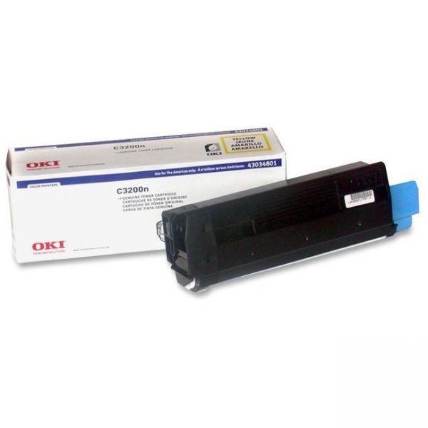 Oki 43034801 Yellow Toner Cartridge
