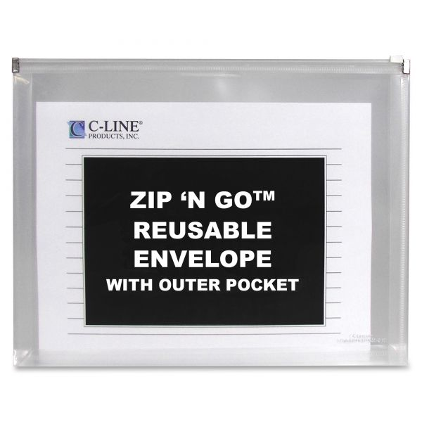 C-Line Zip 'N Go Reusable Envelopes w/Outer Pockets