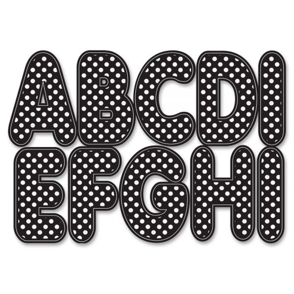 Ashley White Dot Magnetic Die-cut Letters