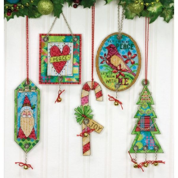 Dimensions Jingle Bell Ornaments Counted Cross Stitch Kit