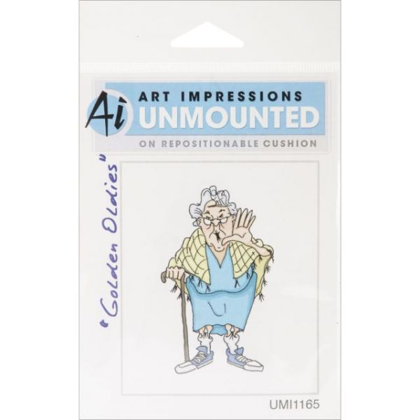 "Art Impressions Golden Oldies Cling Rubber Stamp 1.75""X3"""