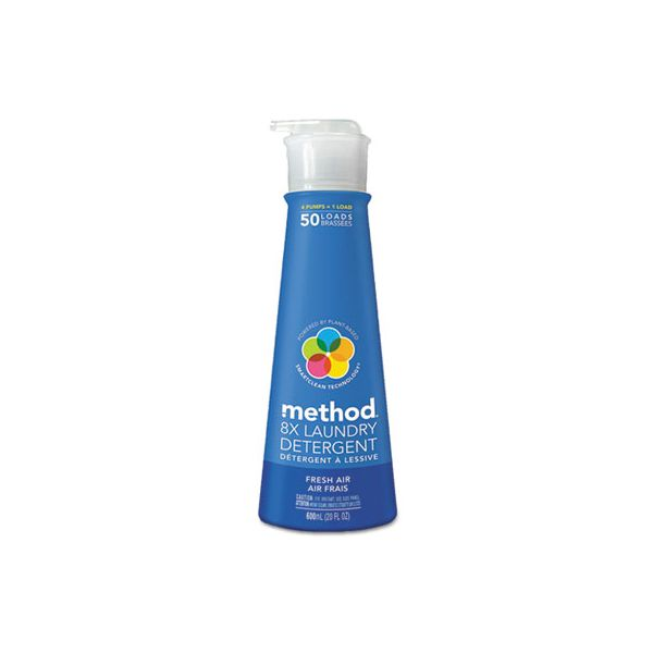 Method 8X Laundry Detergent, Fresh Air, 20 oz Bottle