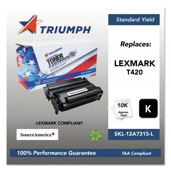 Triumph 751000NSH1004 Remanufactured 12A7415 High-Yield Toner, Black