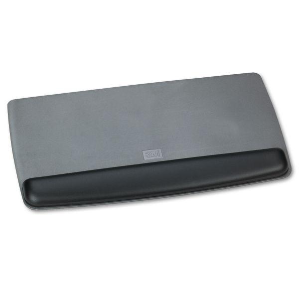 3M Antimicrobial Gel Keyboard Wrist Rest Platform, Black/Gray/Silver