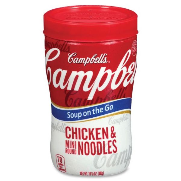 Campbell's Microwavable Soup at Hand