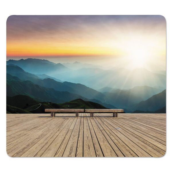 Fellowes Recycled Mouse Pads, Mountain Design, 9 x 8 x 1/16