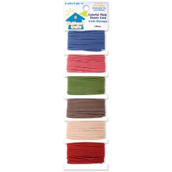 Clubhouse Crafts Colorful Thick Elastic Cord