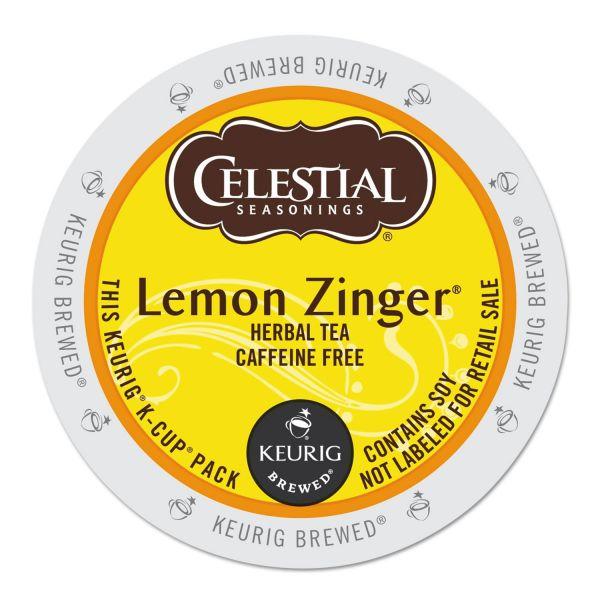 Celestial Seasonings Lemon Zinger Herbal Tea K-Cups