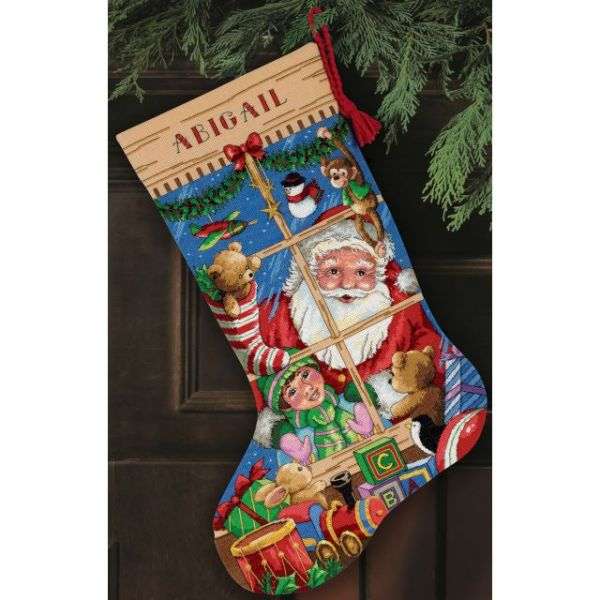 Dimensions Gold Collection Santa's Toys Stocking Counted Cross Stitch Kit