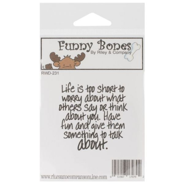 "Riley & Company Funny Bones Cling Mounted Stamp 2""X2"""