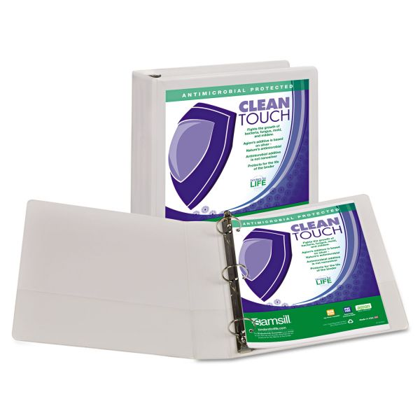 "Samsill Clean Touch 1 1/2"" 3-Ring View Binder"
