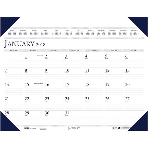 House of Doolittle Executive Monthly Desk Pad Calendar