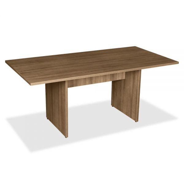 Lorell 2-Panel Base Rectangular Walnut Conference Table