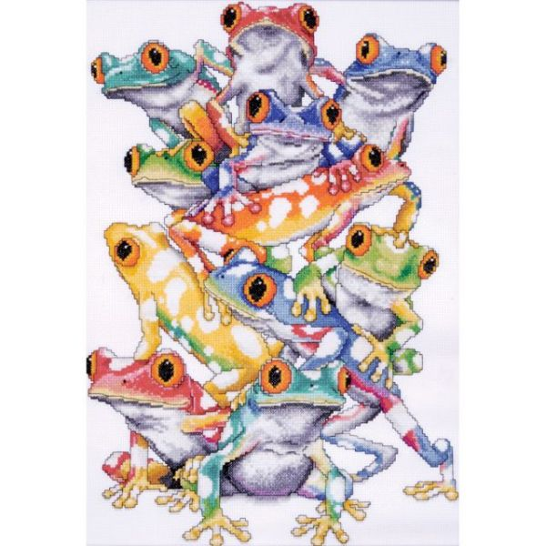 Frog Pile Counted Cross Stitch Kit