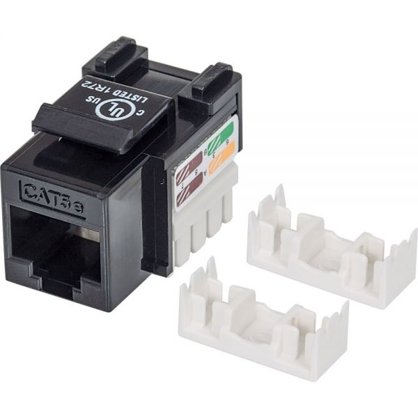 Intellinet Cat5e UTP Punch-down Keystone Jack, Black