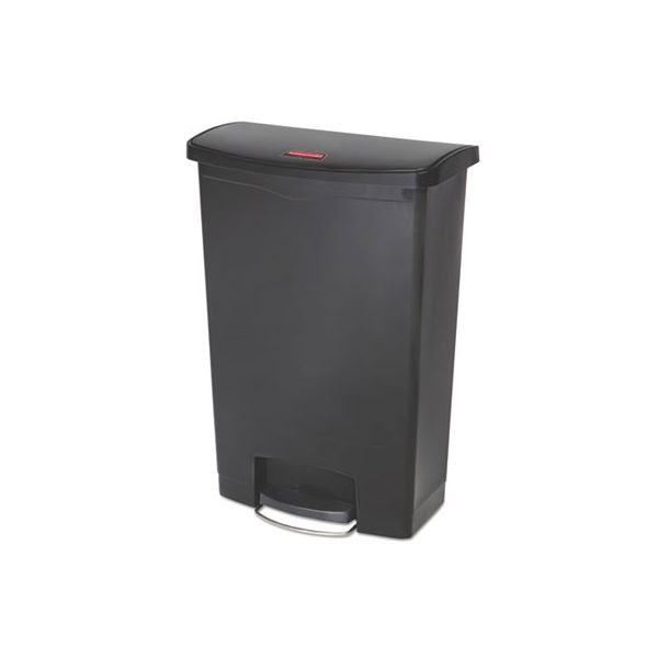 Rubbermaid Step-On Slim Jim 24 Gallon Trash Can With Lid