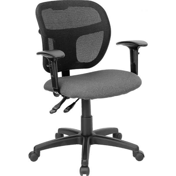 Flash Furniture Mid-Back Mesh Task Chair with Height Adjustable Arms