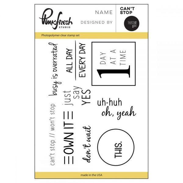 "Pinkfresh Studio Clear Stamp Set 3""X4"""