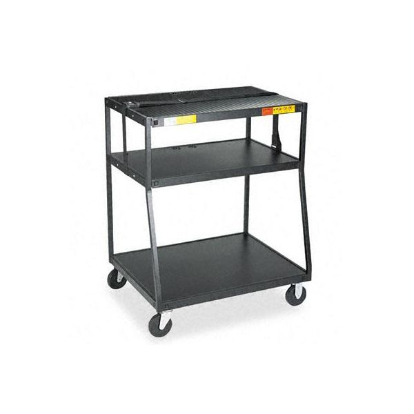 Bretford Wide Body Steel TV Cart, 35w x 28-3/4d x 44h, Black