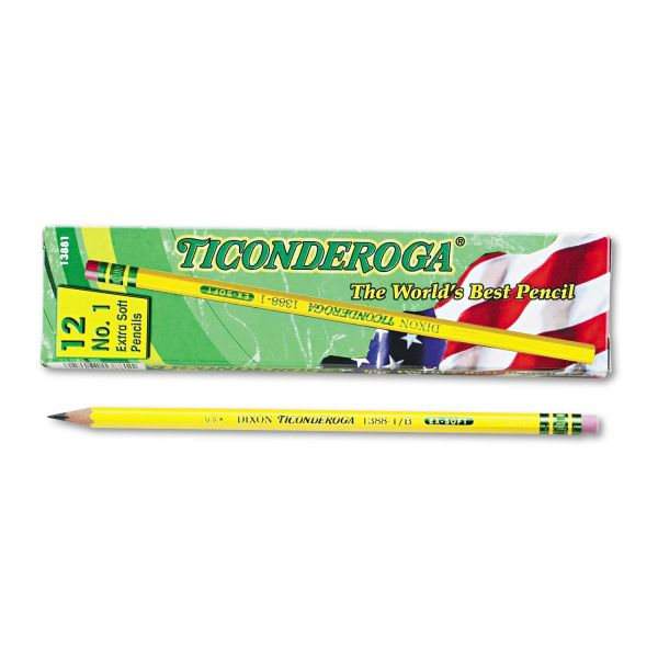 Ticonderoga #1 Wood Pencils