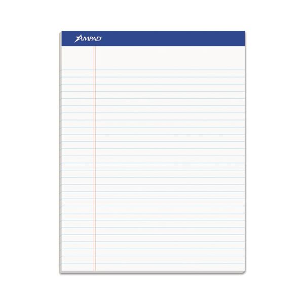 Ampad Recycled Writing Pads, 8 1/2 x 11 3/4, White, 50 Sheets, Dozen