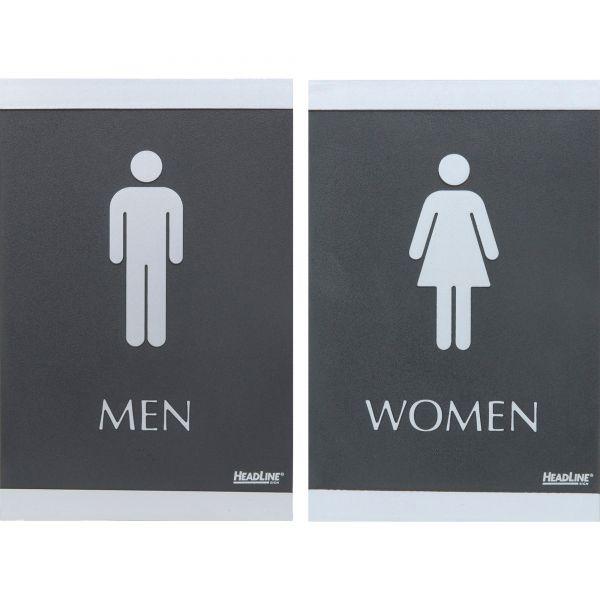 """U.S. Stamp & Sign """"Men"""" & """"Women"""" Restroom Signs"""