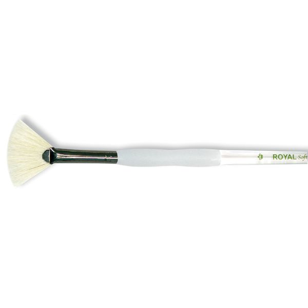 Soft-Grip Bristle Fan Brush