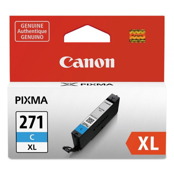 Canon CLI-271XL High Yield Cyan Ink Cartridge (0337C001)
